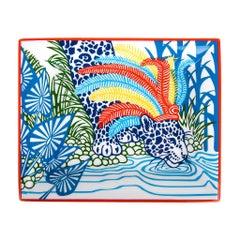 Hermes Change Tray Jaguar Quetzal II Porcelain Bleu Nil New w/ Box