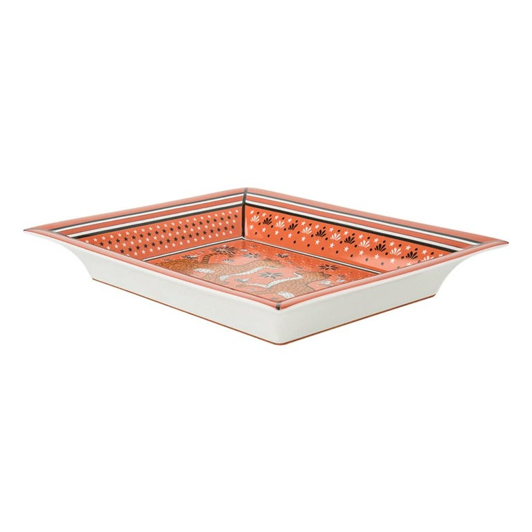 Hermes Change Tray Leopards Porcelain new In New Condition For Sale In Miami, FL