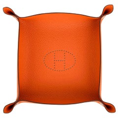 Hermes Change Tray Mises Et Relances Orange  New w/Box