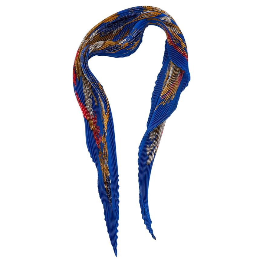 "Hermes ""Chapeau !"" Silk Plisse Scarf, 1990"