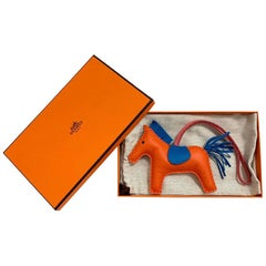 HERMES Charm Orange Leather Rodeo