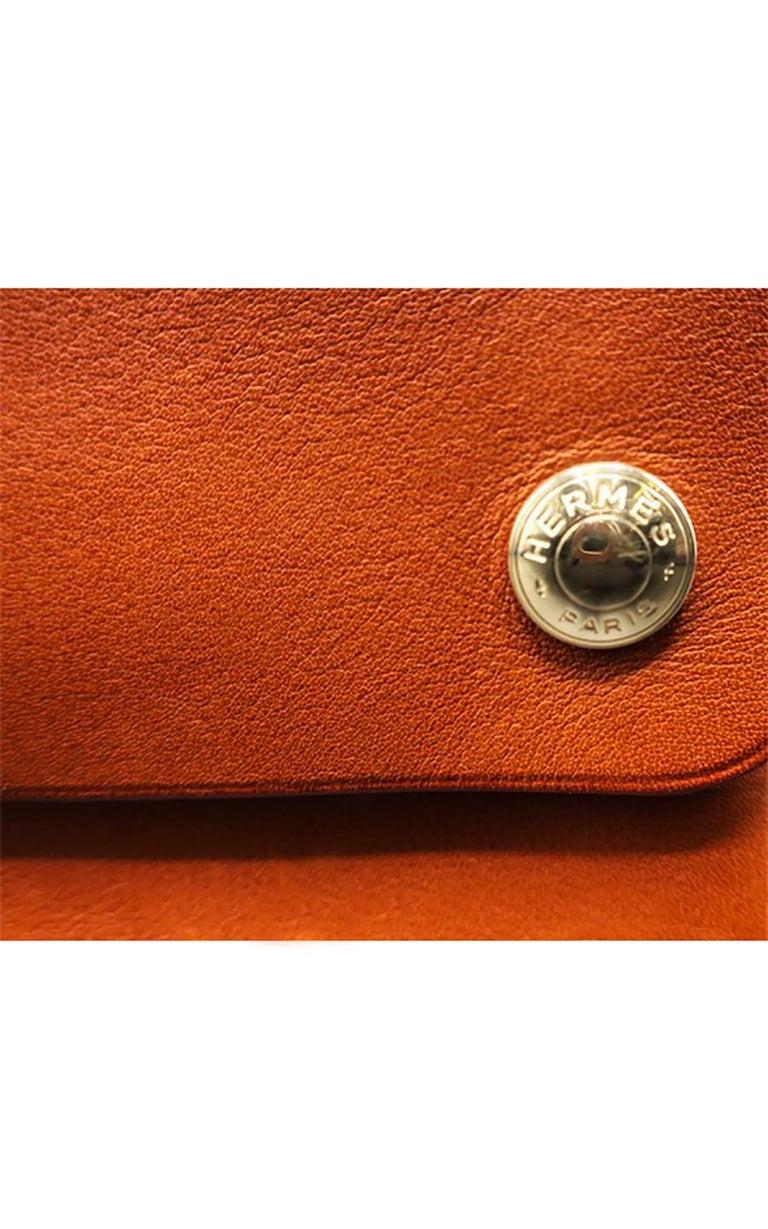 Red Hermès Chasse Clutch Bag