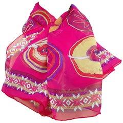 Hermès Chiffon Mousseline Silk Scarf Belles du Mexique Jamin 35 inches