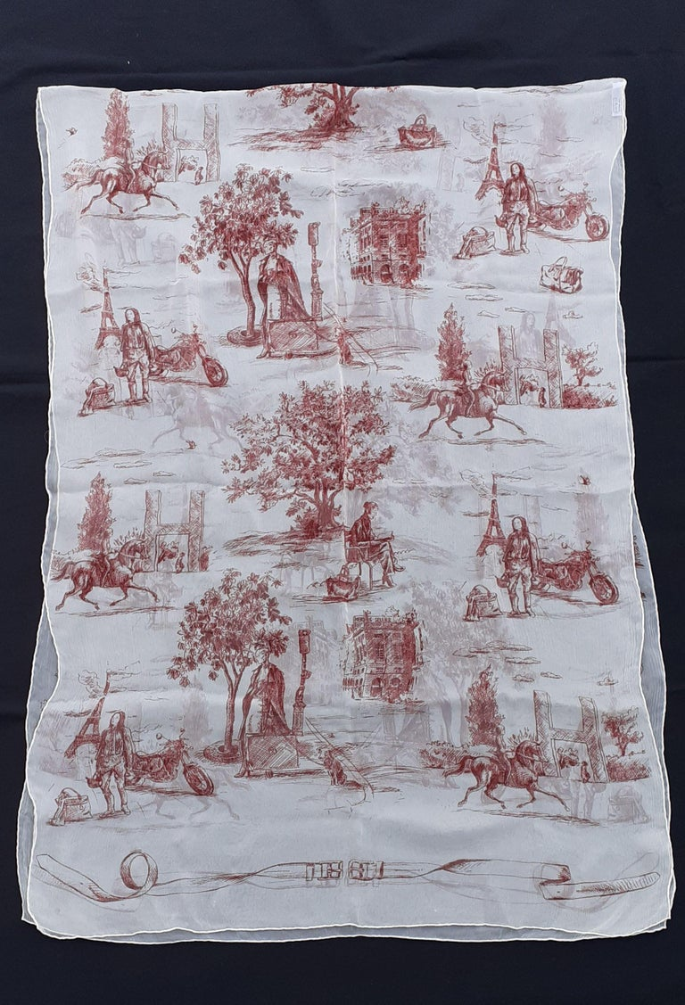 Beautiful Authentic Hermès Scarf  Patterns identical to those present on what is called the