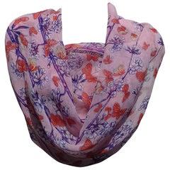 Hermès Chiffon Silk Scarf Vol Amoureux des Azures Toutsy Butterflies RARE
