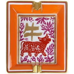 Hermes Chinese Zodiac Ashtray, Year of the Ox