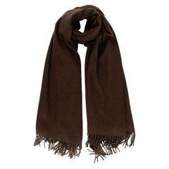 Hermes Chocolate Brown Shawl