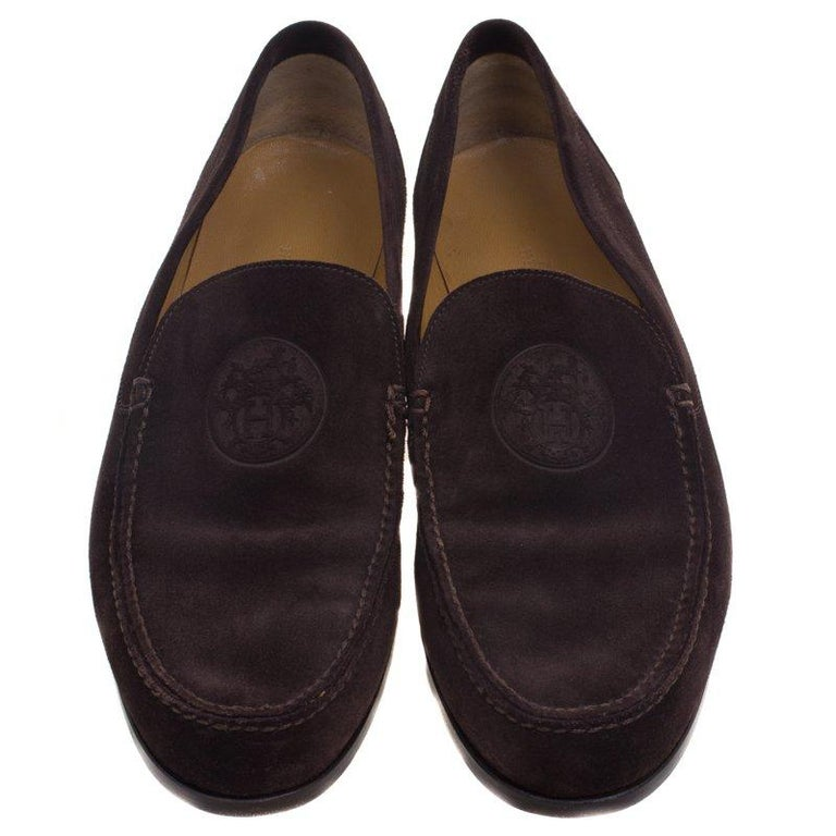d91f9cc055c Hermes is known for their sophisticatedly created designs. These Lucky moccasins  have been crafted from