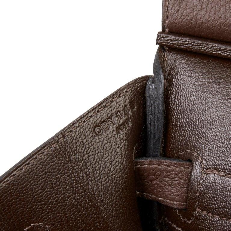 Hermes Chocolate Brown Togo Leather Birkin 30cm For Sale 3
