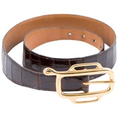 Hermes Chocolate Leather Belt