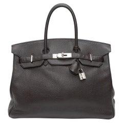 Hermes Chocolate Togo Leather Birkin 35