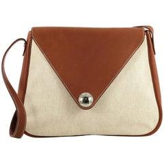 Hermes Christine Handbag Toile and Leather