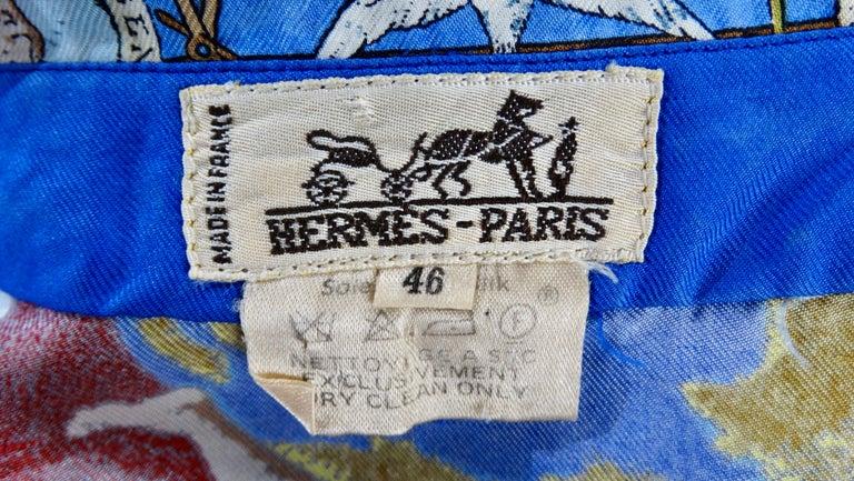 Hermes 'Christophe Colomb Decouvre l'Amerique' Blouse For Sale 5