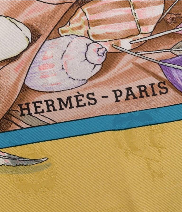 Hermes Christophe Colomb Découvre l'Amérique by Carl de Parcevaux Silk Scarf 1