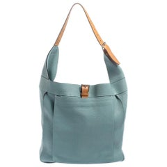 Hermes Ciel Clemence Leather Palladium Hardware Marwari GM Bag