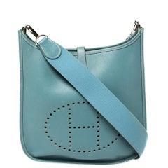 Hermes Ciel Epsom Leather Evelyne I PM Bag