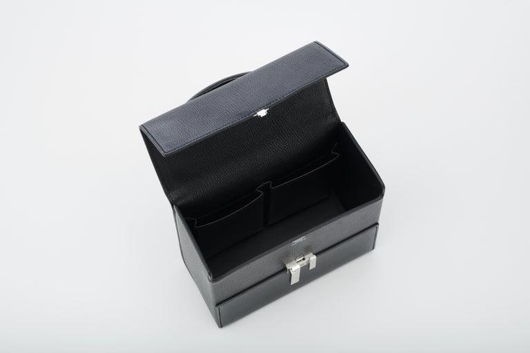 Hermès Cinhetic in Black Chevre Leather with Palladium hardware.  For Sale 1