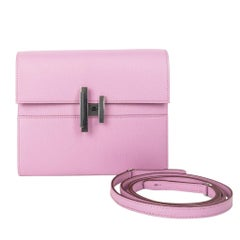 Hermes Cinhetic To Go Wallet Mauve S Bag Clutch Crossbody Chamkila Mysore Chevre