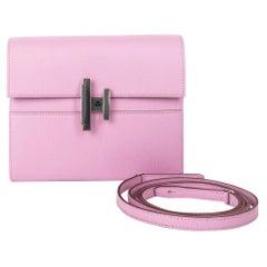 Hermes Cinhetic To Go Wallet Mauve S Bag Clutch Crossbody Chamkila Mysore Chevre