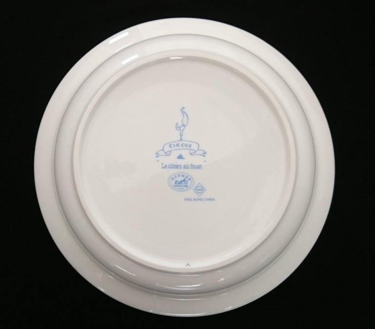 Hermès Circus Porcelain Service (6 pieces set) For Sale 7