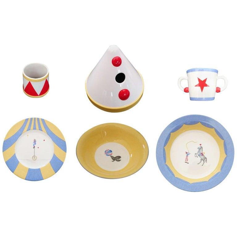Hermès Circus Porcelain Service (6 pieces set) For Sale
