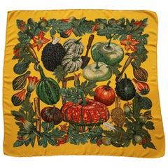 Hermes 'Citrouilles et Coloquintes' Silk Scarf