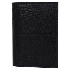 Hermes City MC2 Euclide Card Case Black Matte Alligator New w/ Box