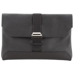 Hermes Cityslide Clutch Leather with Nylon