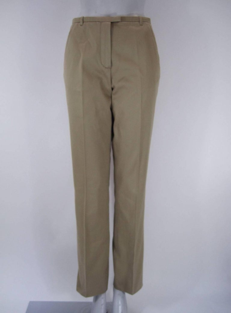 Hermes Classic Cotton Khaki Pants Slacks For Sale 5