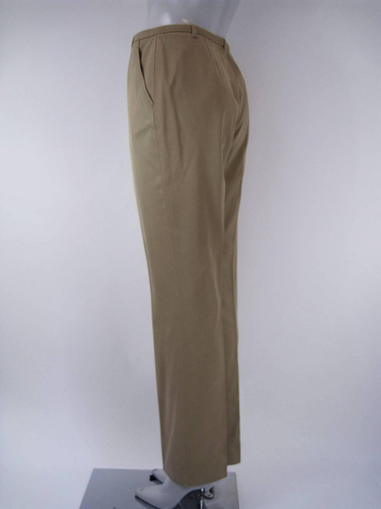 Gray Hermes Classic Cotton Khaki Pants Slacks For Sale