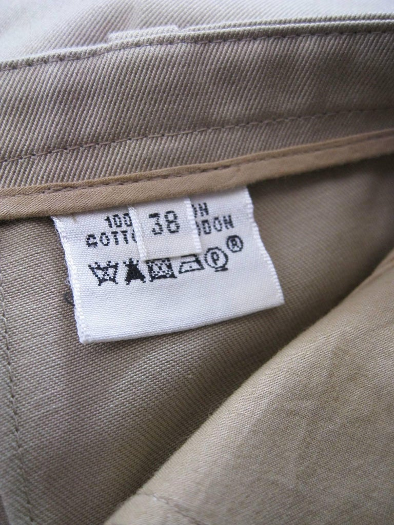Hermes Classic Cotton Khaki Pants Slacks For Sale 2