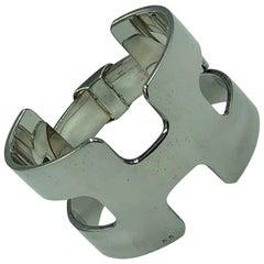 Hermés Sterling Silver Cuff Bracelet