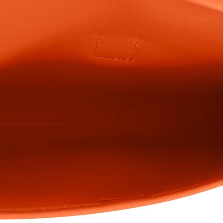 Hermes Classic Orange Jige Elan Clutch Bag 29cm NEW RARE For Sale 3