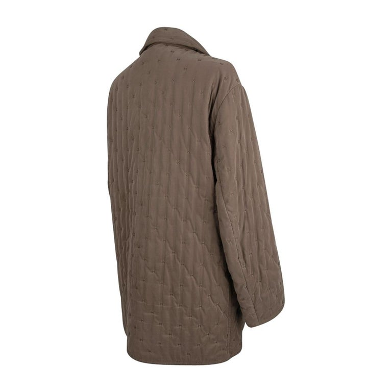 Hermes Classic Paddock Jacket Taupe Lightly Wadded 42 / 8  For Sale 6