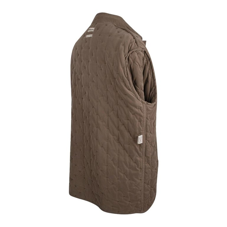 Hermes Classic Paddock Jacket Taupe Lightly Wadded 42 / 8  For Sale 8