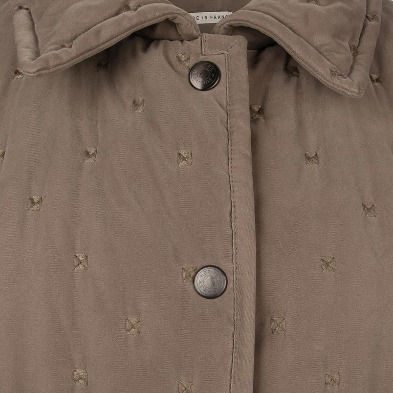 Hermes Classic Paddock Jacket Taupe Lightly Wadded 42 / 8  For Sale 2