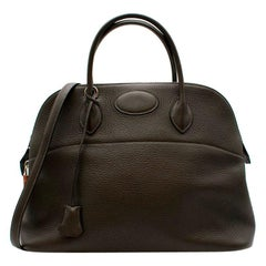 Hermes Clemence Leather Mou Bolide 35 PHW