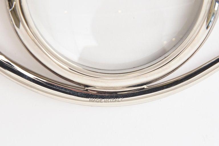 Hermès Cleopatra Eye Magnifier Silver Plated Vintage Desk Accessory For Sale 4