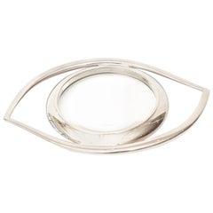 Hermès Cleopatra Eye Magnifier Silver Plated Vintage Desk Accessory