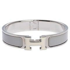 Hermes Clic H Bi-Color Enamel Palladium Plated Bracelet PM