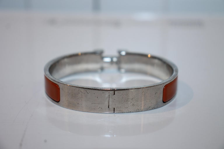 Hermes Clic H Bracelet In Good Condition For Sale In Roslyn, NY