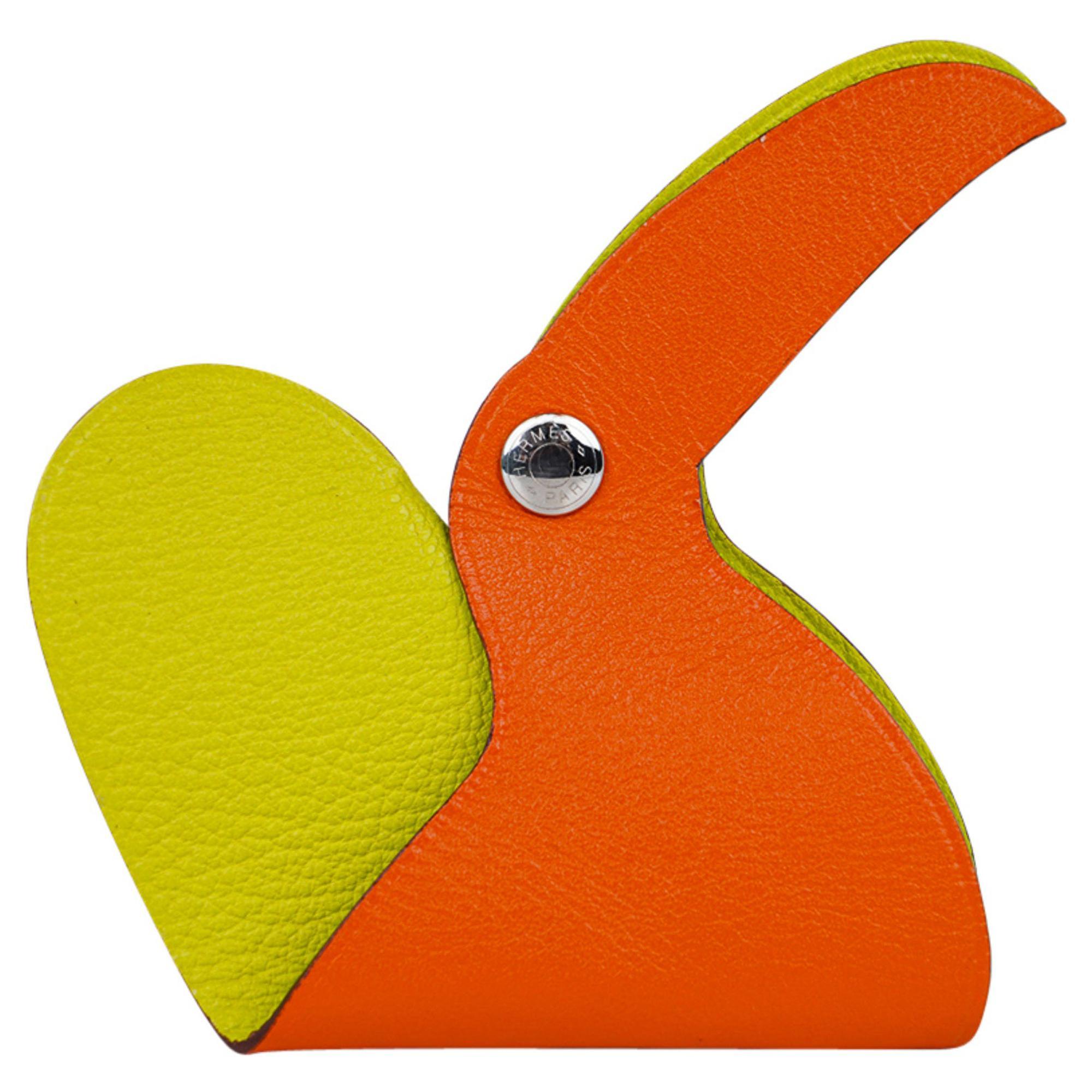Hermes Clickazoo Toucan Orange / Lime Whimsical Art Piece New w/Box