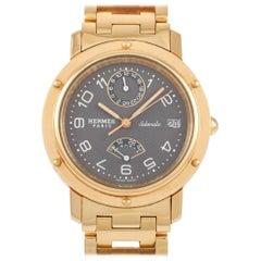 Hermès Clipper 18 Karat Yellow Gold Watch CL5.785