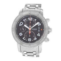 Hermes Clipper CP2.941 Titanium Steel Chronograph Date Automatic Watch