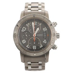 Hermes Clipper Diver Chronograph Automatic Watch Stainless Steel and Titanium 44