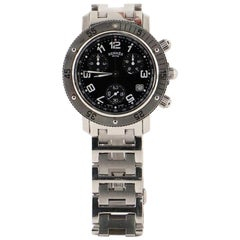 Hermès Clipper Diver Chronograph Quartz Watch Stainless Steel 39