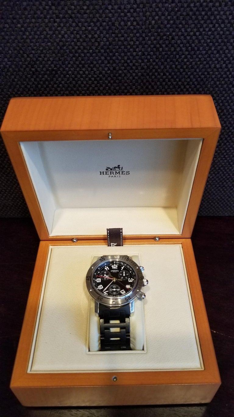 Other Hermès Clipper Divers CL2.915 Chronograph Quartz Edition For Sale