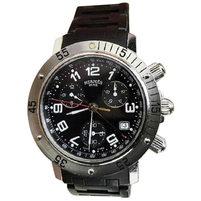 Hermès Clipper Divers CL2.915 Chronograph Quartz Edition For Sale