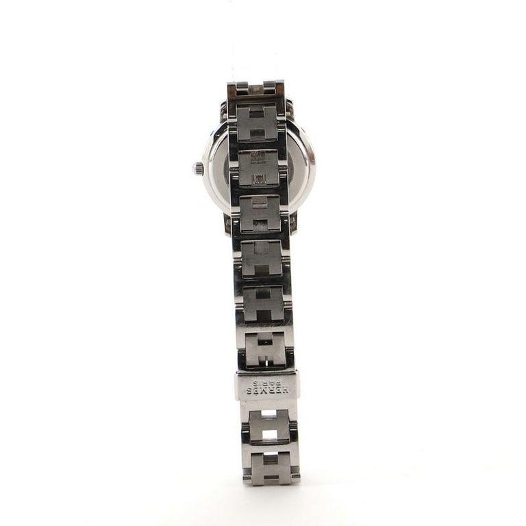Women's or Men's Hermes Clipper Quartz Watch Stainless Steel 24
