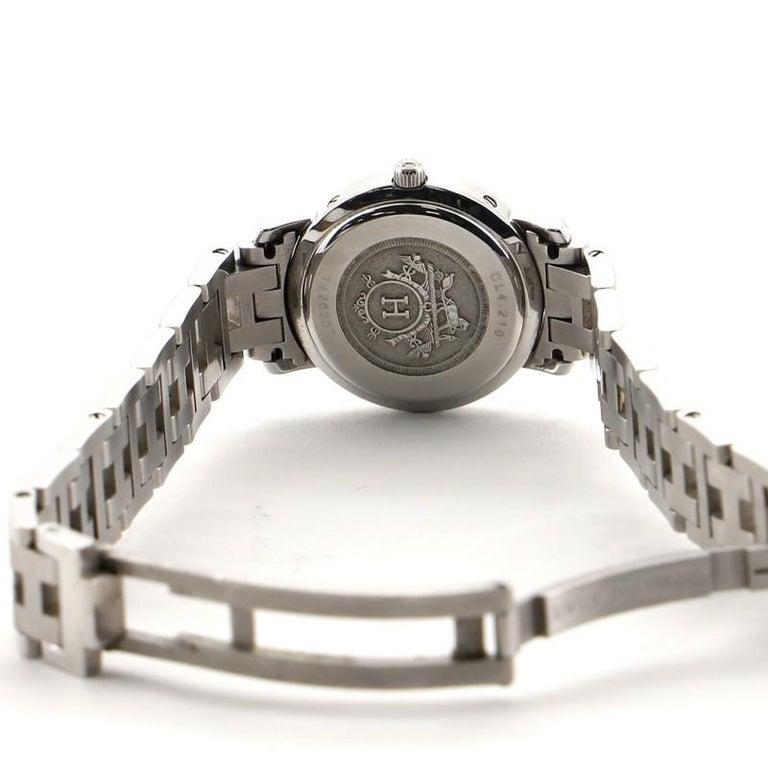 Hermes Clipper Quartz Watch Stainless Steel 24 1